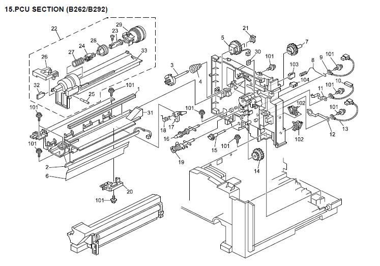Savin 816f Parts List and Diagrams Manual