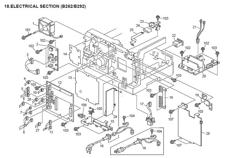 Ricoh Aficio MP 161 Parts List and Diagrams
