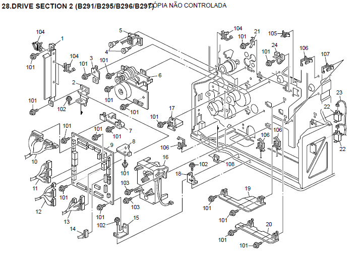 Savin 8045E Parts List and Diagrams