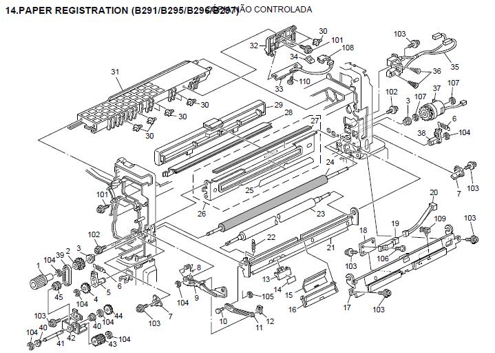Ricoh Aficio MP 4500 Parts List and Diagrams