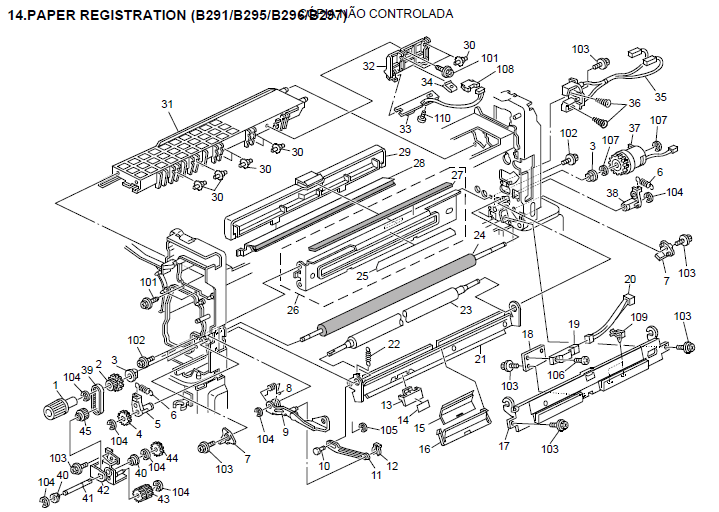 Savin 8045E Parts List and Diagrams