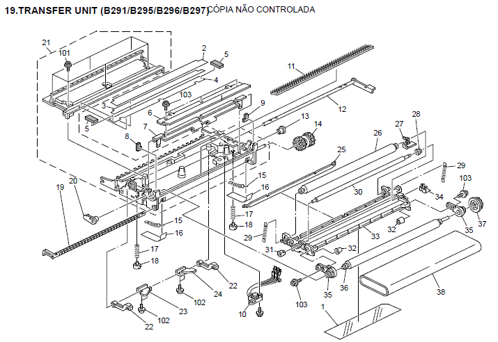 Ricoh Aficio MP 4500 Parts List and Diagrams