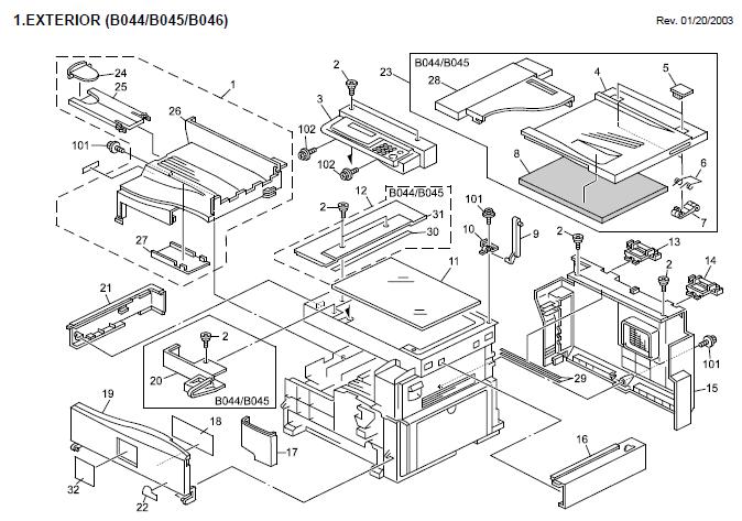 Ricoh Aficio 1013F / Ricoh 1013 Product Support Guide