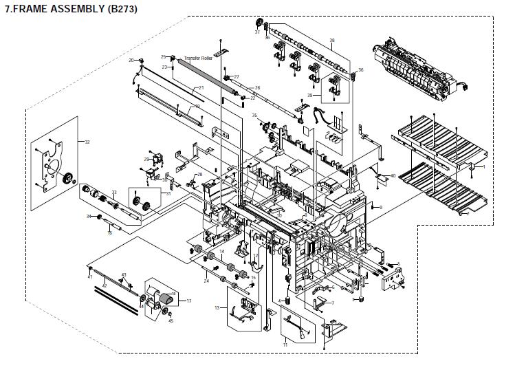 Savin AC205, AC205L Parts List and Diagrams Manual