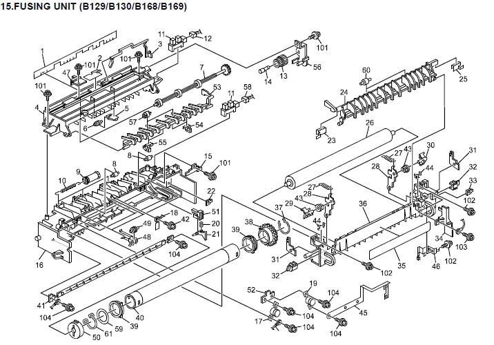 Ricoh Aficio 1515, Aficio 1515F, Aficio 1515MF Parts List