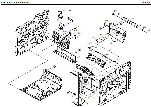 Kyocera ECOSYS P6035cdn Parts List and Diagrams