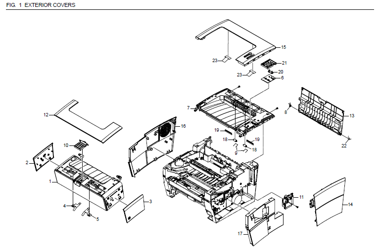 Kyocera FS-920 Parts List and Diagrams