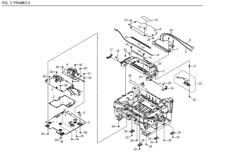 Kyocera FS-720 Parts List and Diagrams