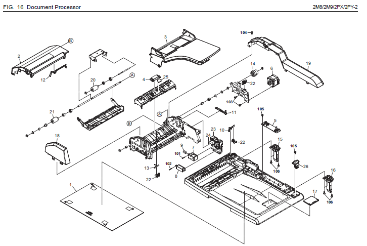 Kyocera ECOSYS M6526cidn Parts List and Diagrams