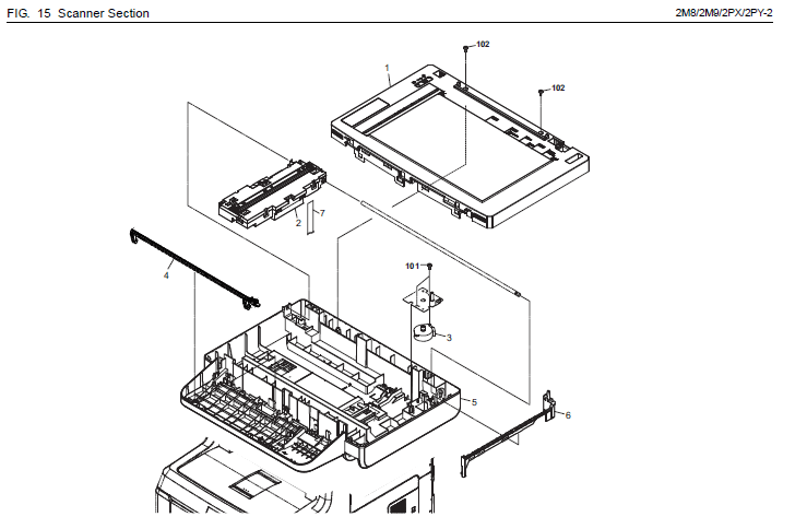 Kyocera FS-C2526MFP Parts List and Diagrams