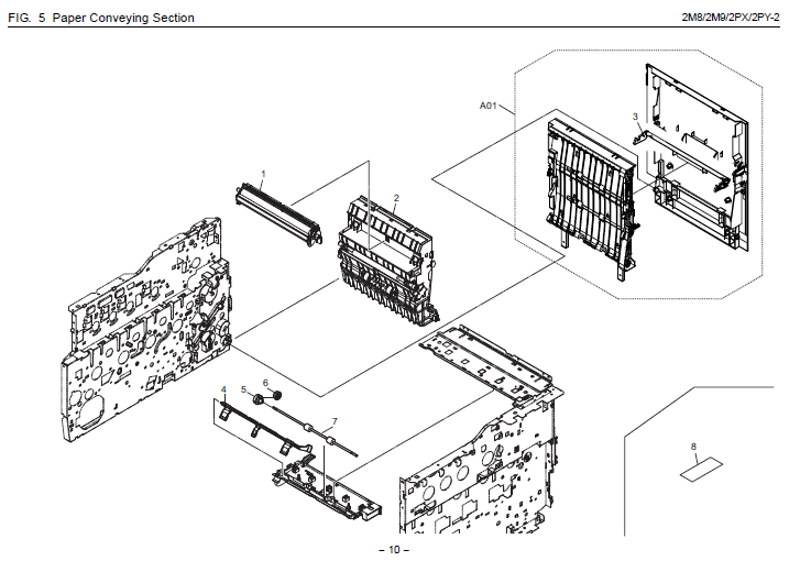 Kyocera FS-C2626MFP Parts List and Diagrams