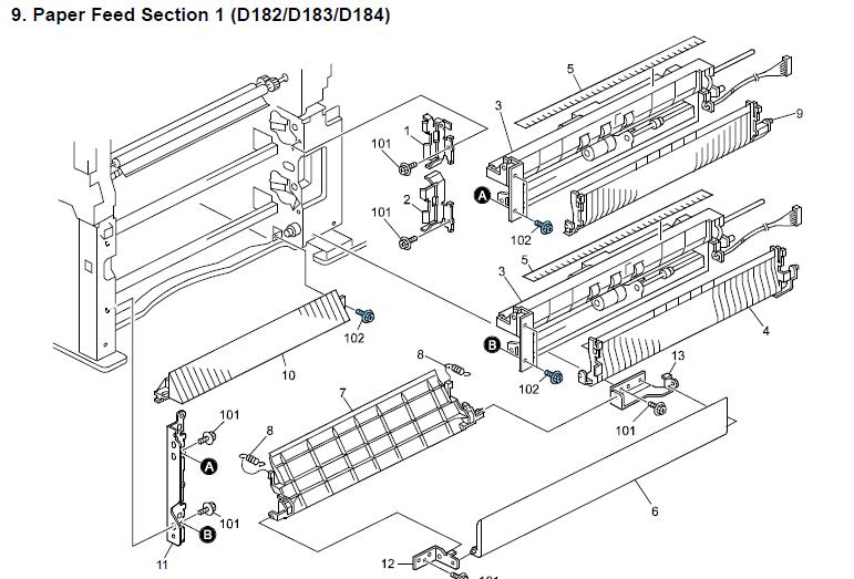 Ricoh MP 3353 Parts List and Diagrams manual