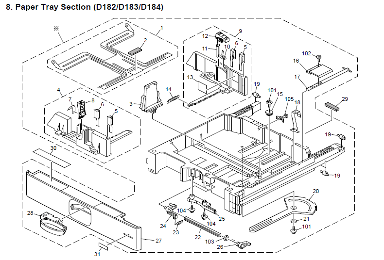 Ricoh MP 3053 Parts List and Diagrams Manual