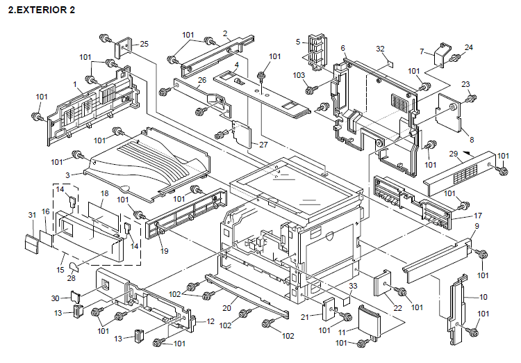 Ricoh MP 1500 Parts List and Diagrams Manual