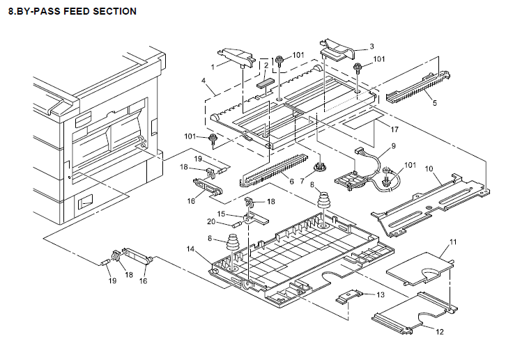Ricoh Aficio MP 2000 Parts List and Diagrams