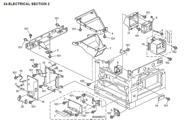 Ricoh Aficio MP 2000 Parts List and Diagrams
