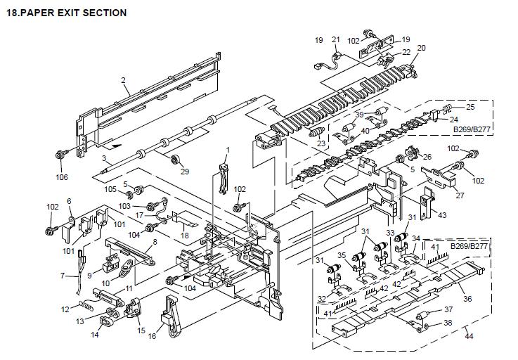 Savin 9021d Parts List and Diagrams Manual