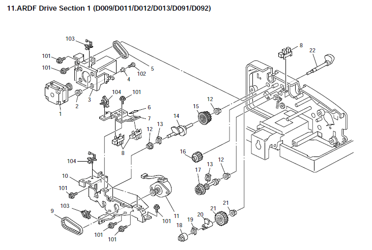 Ricoh Aficio MP 5001 Parts List and Diagrams