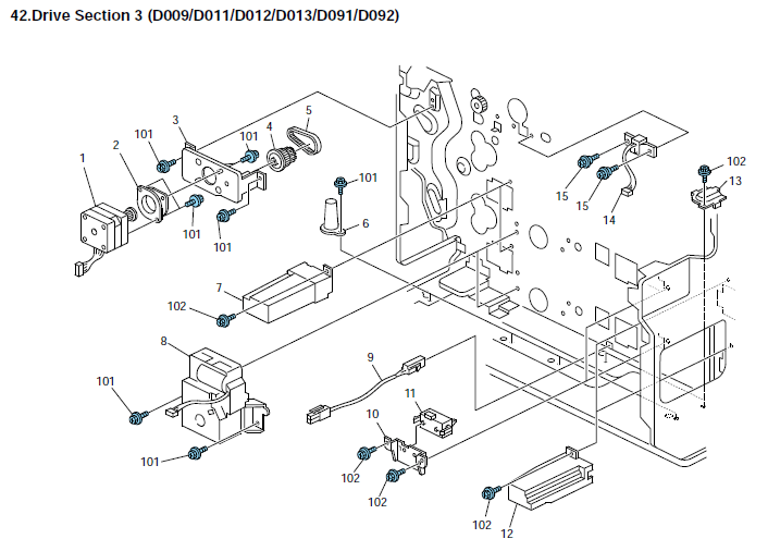 Ricoh Aficio MP 4000SP Parts List and Diagrams