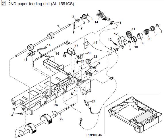 Sharp AL-1530CS Parts List and Diagrams