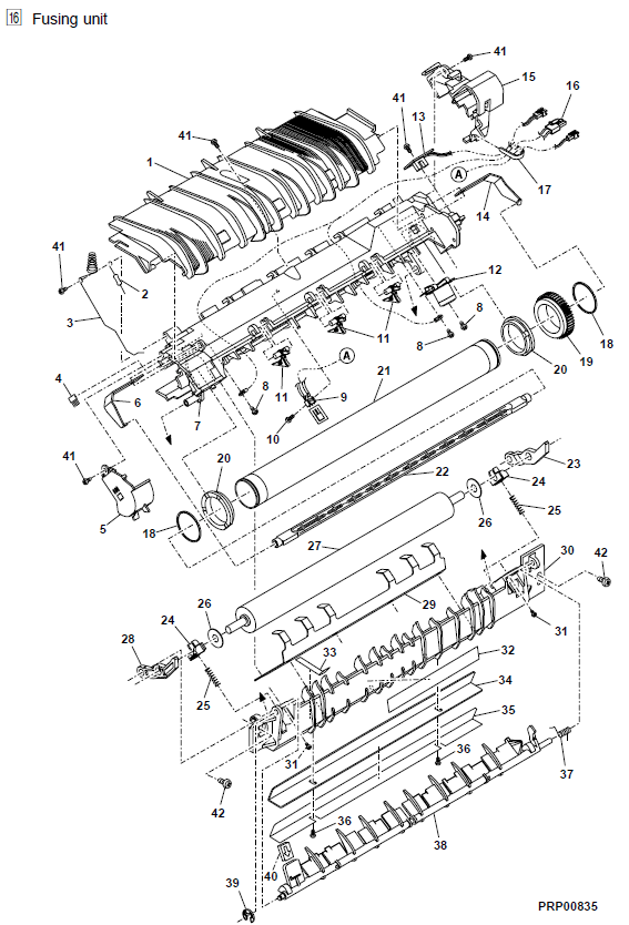 Sharp AL-1540CS Parts List and Diagrams