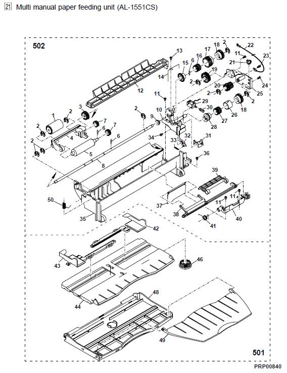 Sharp AL-1540CS Parts List and Diagrams