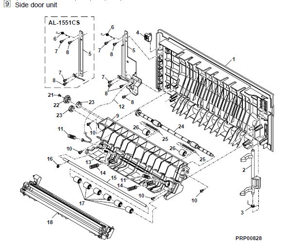 Sharp AL-1551CS Parts List and Diagrams