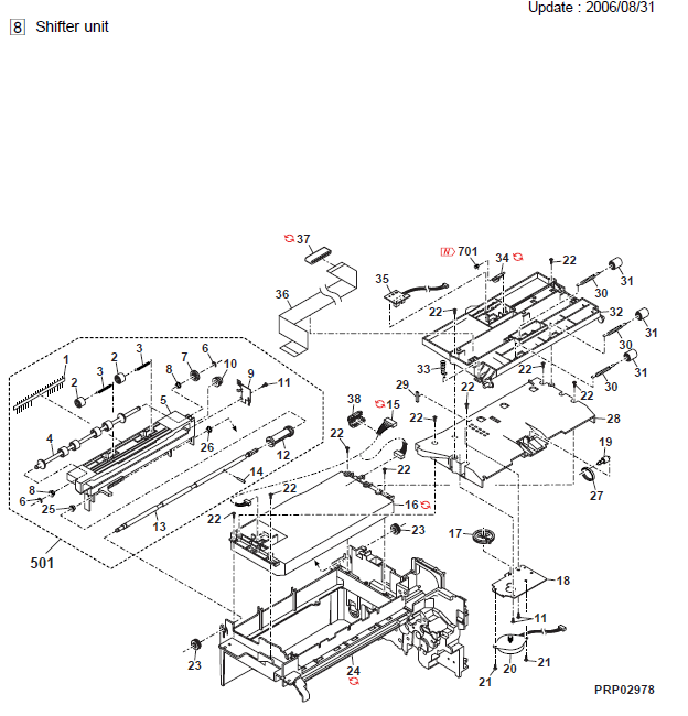 Sharp FO-DC550 Parts List and Diagrams
