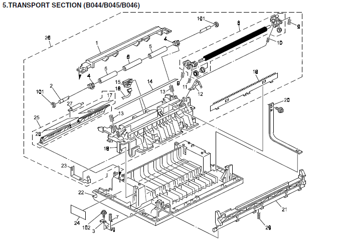 Gestetner 1302, 1302f Parts List and Diagrams
