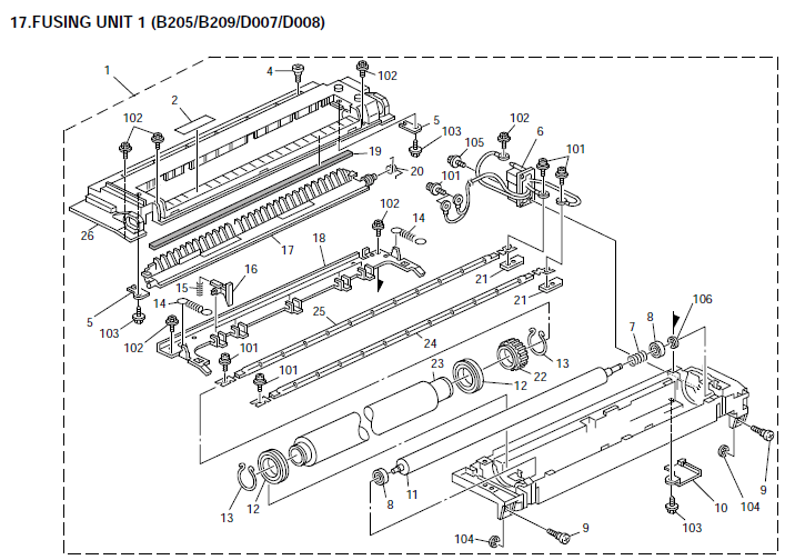 Ricoh Aficio 3025, Aficio 3030 Parts List and Diagrams