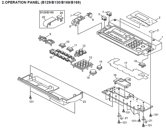 Gestetner DSm415, DSm415f, DSm415pf Parts List and Diagrams