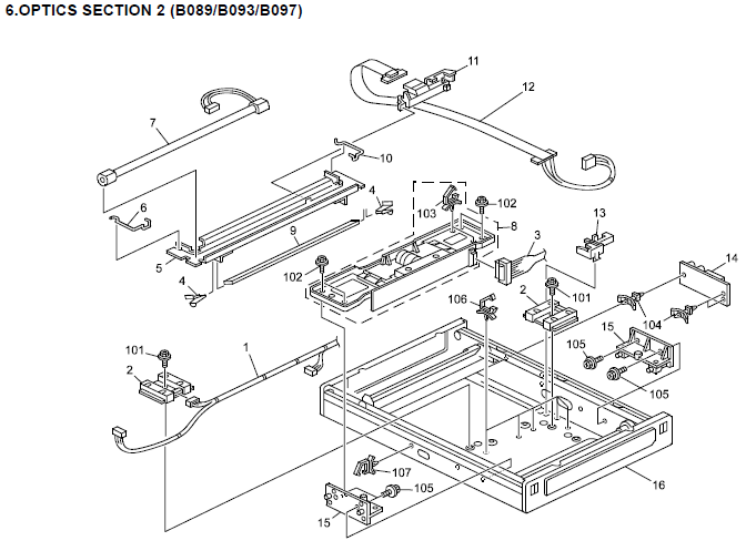 Ricoh Aficio 2022, Aficio 2027 Parts List and Diagrams