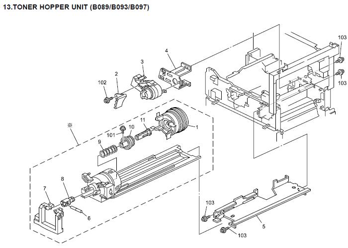 Savin 4022, 4027 Parts List and Diagrams Manual