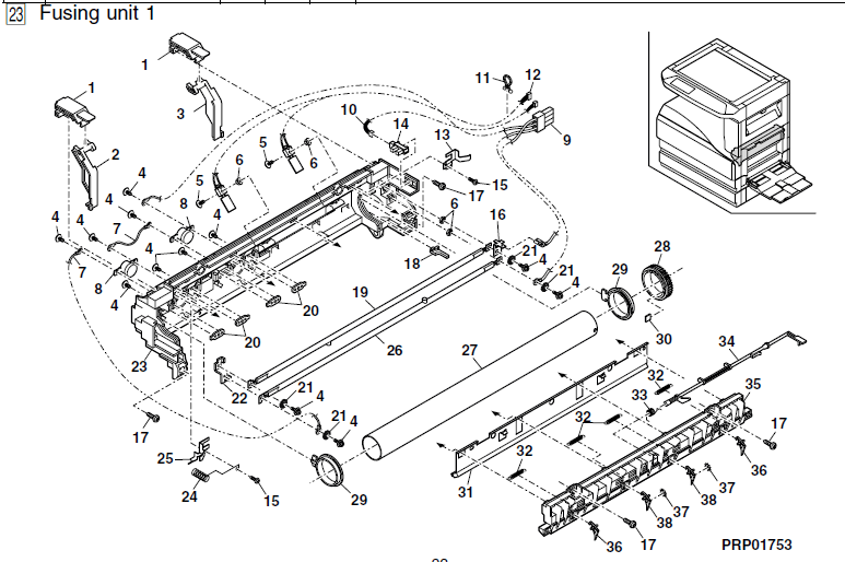 Sharp AR-M237 Parts List and Illustrated Parts Diagrams