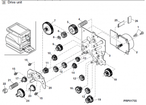 Sharp AR-M277 Parts List and Illustrated Parts Diagrams
