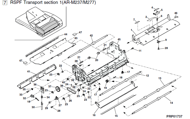 Sharp AR-M276 Parts List and Illustrated Parts Diagrams
