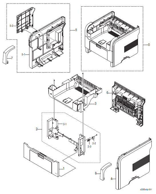 Xerox Phaser 3300MFP Parts List and Diagrams