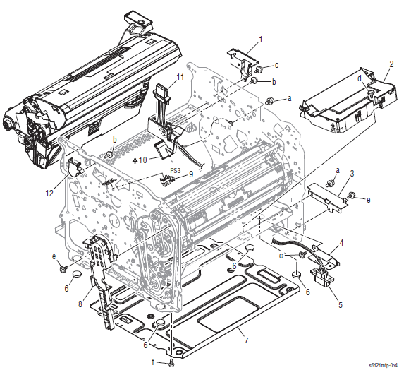 Xerox Phaser 6121MFP Parts List and Diagrams