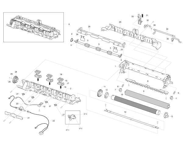 Xerox Workcentre PE 220 Parts List and Diagrams