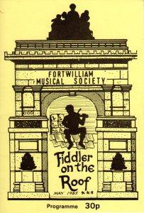 Fiddler on the Roof 1985 programmer cover