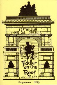 Fiddler on the Roof 1985 programmer cover