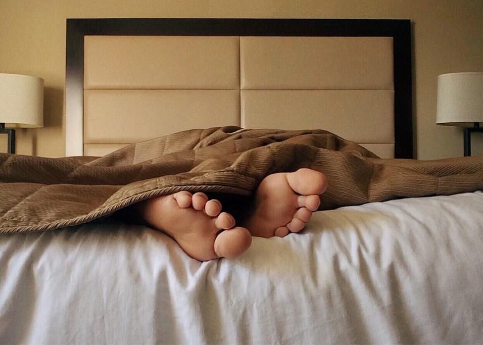 brown comforter