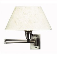 Kenroy Home Simplicity Swing Arm Wall Lamp In Brushed ...