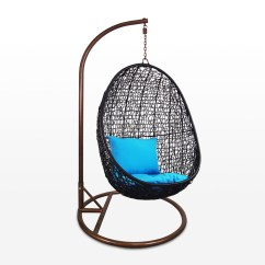 Swing Chair Home Town Oversized Tufted Black Cocoon Blue Cushion Furniture And