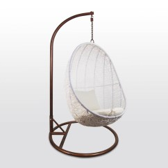 Garden Swing Chair Singapore Rentals Atlanta White Cocoon Cushion Furniture And Home