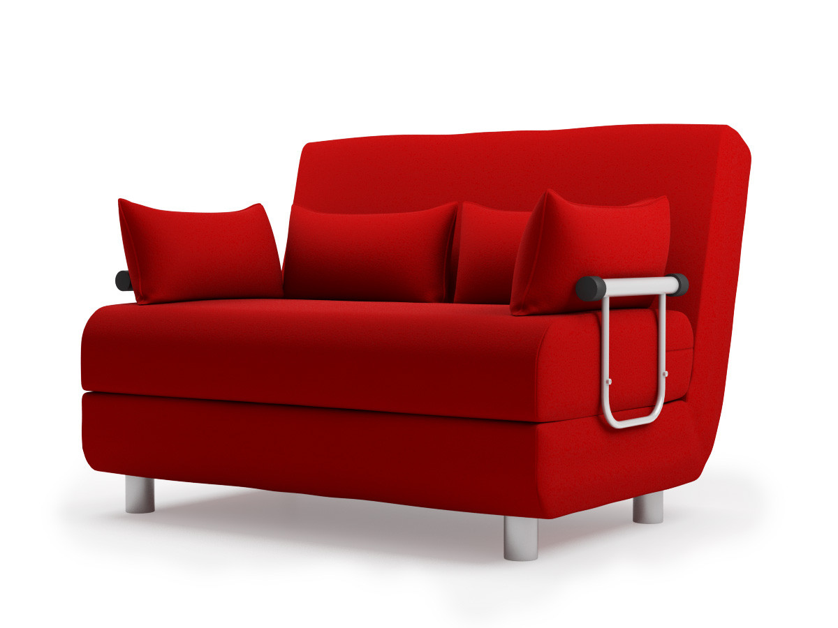 red leather sleeper sofa slim corner sofas uk beds faux bed kitchen