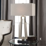 Uttermost 27770 1 Alvar Antiqued Nickel And Black Marble Table Lamp Furniture Home Decor Fortytwo