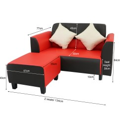 Sofa Seat Height 60cm Custom Made Fabric Singapore Rifka With Stool Furniture Home Decor Fortytwo Regular Price S 459 00