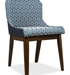 fanni dining chair walnut with pu navy blue cushion [ 1333 x 2000 Pixel ]