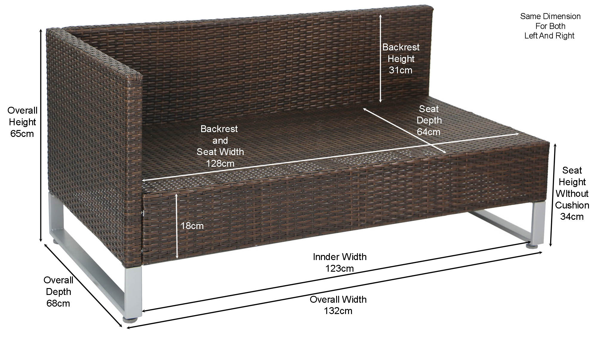 sofa seat height 60cm 3 piece set with recliner royal synthetic rattan outdoor storage box brown furniture home decor fortytwo